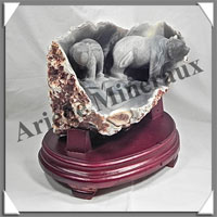 OURS (Couple) - AGATE - 200x180x145 mm - 3 275 grammes - A002